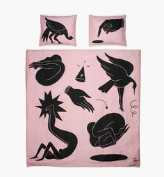 duvet cover get in the hole 200 x 200 - warm pink