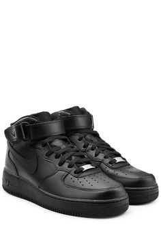 brand new 12b4f b1e87 Air Force 1 High, Air Force Ones, Nike Air Force, Leather Sneakers, All  Black Sneakers, Black Nikes, Nike Men, Nike Shoes, Sneakers Nike