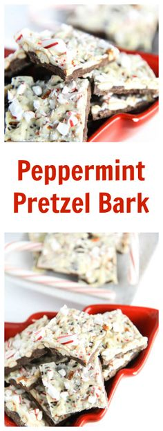 This Peppermint Pretzel Bark is so incredibly easy to make (seriously - 20 minutes!) and incredibly addictive. You will absolutely love this recipe! Christmas Food Gifts, Christmas Desserts, Christmas Recipes, Christmas Bark, Christmas Goodies, Holiday Baking, Christmas Baking, Pretzel Bark, Delicious Desserts