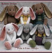 Plain & Fancy Knit Bunny Family - via @Craftsy
