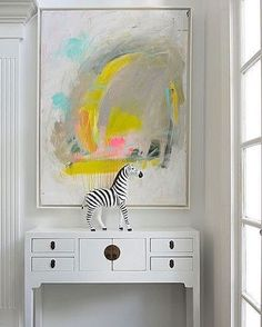 💋 Gorgeous art and styling by Kerri Rosenthal. ...love her happy art.  #interiordesign #home #house #interiordesigner #design #interior #interiors #style #homestyling #interiorstyling #desk #interiorstyle #interiordecorating #interiores #interiorinspo #interiorinspiration #interiorismo #interiordecoration #interiordecor #homeinterior #homestyle #credenza #zebra #art #homedecor #homedesign #artwork #abstractart #entryway #foyer