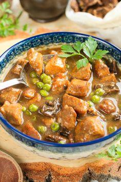 Pork Recipes, Cooking Recipes, Spinach Pasta, One Pot Pasta, Polish Recipes, Special Recipes, Stew, Food To Make, Curry