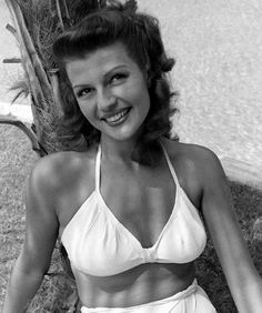 Rita Hayworth at her home in Beverly Hills, 1945