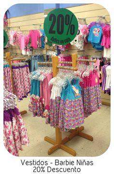 Ven por nuestros #Descuentos y descubre las bellezas de #Vestidos #Barbie con 20% #Niñas 3er.Piso