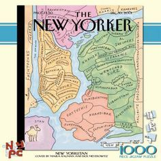 "The famous and hilarious ""New Yorkistan"" cover illustration by Maira Kalman in a 1000-piece jigsaw puzzle."