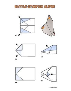 Make paper planes for up in the air week