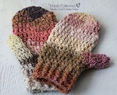 Crochet Pattern - Easy Crochet Mittens Pattern - Mitten Crochet Pattern - Crochet Patterns for Women - Crochet Patterns for Ladies - PDF 421 by PoshPatterns on Etsy https://www.etsy.com/listing/259333629/crochet-pattern-easy-crochet-mittens