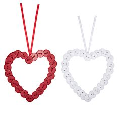 John Lewis Button Heart Decorations