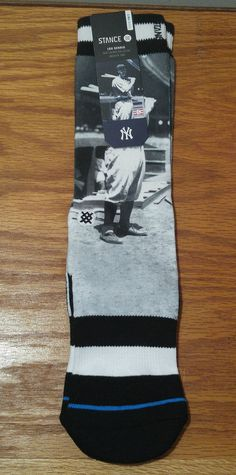 Stance Mens Iron Horse Socks Black S/M New for sale online Baseball Gear, New York Yankees Baseball, Lou Gehrig, Crew Socks, Mlb, Iron, Horses, Basket, Athletic