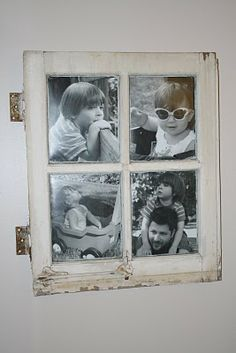 Another window picture frame.. I love that they used the latches.