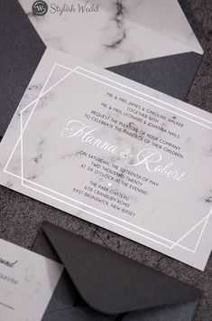 This beautiful marble wedding invitation has a hexagon frame that is foil stamped with actual silver foil. Absolutely stunning, adds a touch of luxe to this elegant invitation suite! Silver Wedding Invitations, Affordable Wedding Invitations, Wedding Envelopes, Elegant Wedding Invitations, Wedding Stationary, Wedding Frames, Wedding Ideas, Silver Wedding Decorations, Invitation Design