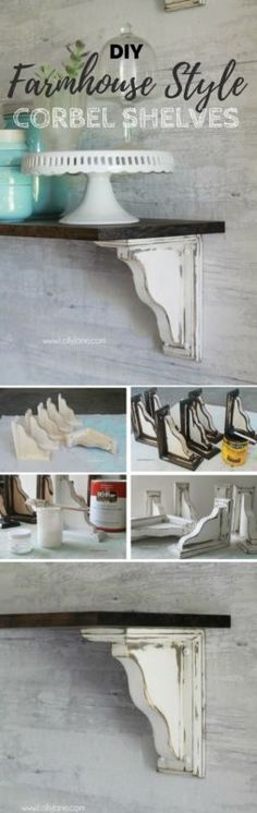 Fixer Upper Farmhouse Style Ideas From Natural to Fabulous – take a look at these DIY Farmhouse Shelves – a total Fixer Upper Style win! More DIY Fixer Upper Farmhouse Style Ideas on Frugal Coupon Living. Country Decor, Rustic Decor, Farmhouse Decor, Farmhouse Style, Country Style, Farmhouse Renovation, Farmhouse Ideas, Farmhouse Design, Cottage Style