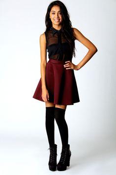 Jess Skater Skirt on Wanelo