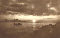 Louise Engen - Landegofjorden Midnattsol, 1905