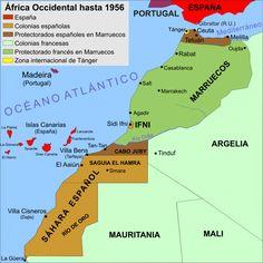 Fuente: Memoriasdeuntambor.com Casablanca, Puerto Rico, Arab World, Western Sahara, Historical Maps, The Past, History, Activities, World Maps