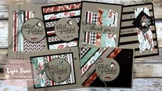 6 Scrappy Strip Card Designs - Stampin' Up! Gilded Autumn | Lynn Dunn Card Making Kits, Card Making Tutorials, Making Ideas, Stampin Up, Make Your Own Card, Fancy Fold Cards, Fall Cards, Christmas Cards, Card Making Inspiration