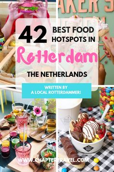 In this post you can find the 42 best food hotspots in Rotterdam, the Netherlands! With some great options for breakfast, dinner and desserts. Also some amazing vegan hotspots in Rotterdam. Europe Travel Tips, European Travel, Travel Destinations, Traveling Europe, Backpacking Europe, Holiday Destinations, Italy Travel, Travel Guide, Travelling