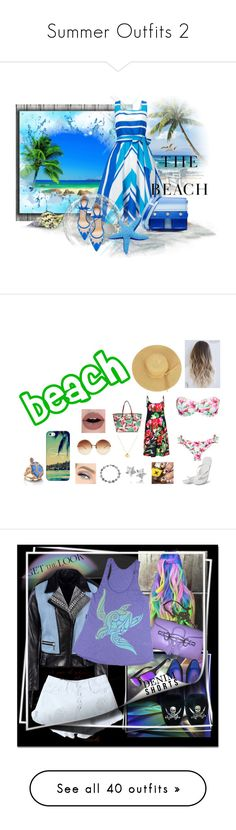 """Summer Outfits 2"" by amanda-o-twomey ❤ liked on Polyvore featuring Phase Eight, Kenzo, Bionda Castana, H&M, tropical, beach, Linda Farrow, Hotmarzz, Hot Anatomy and Casetify"