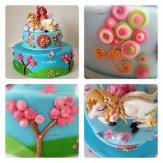 Mia and me cake and details. From www.lecreattive.com