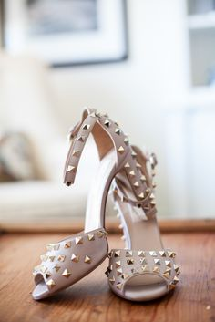 Valentino Nude Studded Shoes | Valentino | Stephanie Grace Designs https://www.theknot.com/marketplace/stephanie-grace-designs-santa-monica-ca-417841 | mara myers photography https://www.theknot.com/marketplace/maya-myers-photography-los-angeles-ca-439965