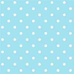 Polka Dots WallPaper for Kids Rooms, Nursery Room or Preschool - Dots Aqua & White Wallpaper