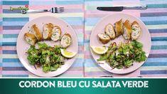 Reteta culinara Cordon bleu cu salata verde din categoria 2 Portii = 20 LEI. Cum sa faci Cordon bleu cu salata verde