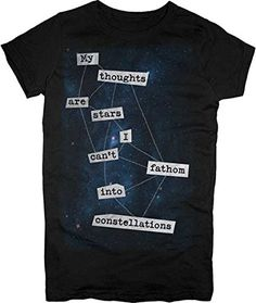 Changes My Thoughts Are Stars - The Fault In Our Stars Juniors T-shirt: Junior Small - Black The Fault In Our Stars