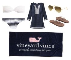 """Day on the Lake"" by zoeantonpeat ❤ liked on Polyvore featuring J.Crew, Ray-Ban, Rainbow, Tory Burch, preppy, Prep and southernprep"
