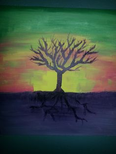 As Above So Below   #tree #acrylic #painting visit etsy.com/shop/whollyhappiness get a $10 Discount code GRATITUDE as a thank you!