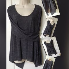 Cooper Key XL Rustic gray sheer cut fabric fantastic sexy open back light weight great anytime top Tops