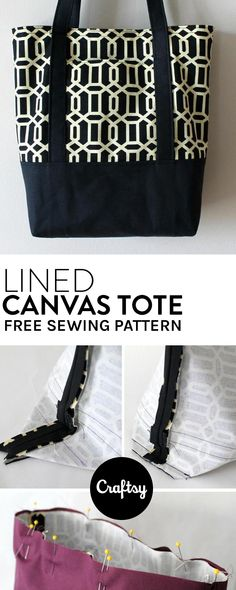 f941ce032c2c The perfect tote bag pattern to bring with you on errands. Get it for free