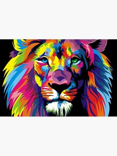 Watercolor Lion Pop Art Posters And Prints Abstract Animals Canvas Art Wall Paintings Wall Art Painting, Animal Canvas, Watercolor Lion, Oil Painting On Canvas, Animal Canvas Art, Oil Painting Abstract, Pop Art Posters, Lion Painting, Canvas Painting