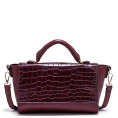 SOLESOCIETY.COM - Women's Red (?) Vegan Leather Structured Croc Crossbody [7x10.5) | Chantel..... $44.95