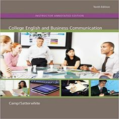 Student Workbook for College English and Business Communication Edition by Sue Camp and Publisher McGraw-Hill Higher Education. Save up to by choosing the eTextbook option for ISBN: The print version of this textbook is ISBN: Network And Security, Nouns And Pronouns, Report Writing, Presentation Skills, Use Of Technology, Communication Skills, Writing Skills, Higher Education, Textbook