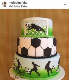 Super Birthday Cake Boys Football Party Ideas Ideas You are in the right place about So Football Birthday Cake, Soccer Birthday Parties, Cake Birthday, Birthday Boys, Soccer Party, Football Cakes For Boys, Fondant Cakes, Cupcake Cakes, Bolo Fake Eva