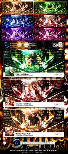 7 Day Night Party FB Timeline Cover