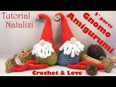 Gnomo Amigurumi (sub.) - Tutorial Natale - Today we are going to learn a very beautiful crochet technique that will guarantee your success in - Crochet Christmas Decorations, Christmas Crochet Patterns, Holiday Crochet, Christmas Sewing, Christmas Gnome, Christmas Crafts, Crochet Videos, Amigurumi Patterns, Crochet Dolls