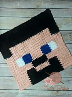 Know someone who's obsessed with Minecraft? Catch this Crochet A Long (CAL)! This is the Steve Block, of my Minecraft Obsession is the world renowned Steve. Every Minecraft fan knows who this guy is.