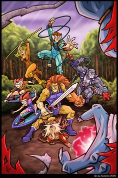 Fan Art: Thundercats by JoeCostantini on DeviantArt Thundercats Cartoon, He Man Thundercats, Thundercats 2011, Best 80s Cartoons, Classic Cartoons, Cartoon Toys, Cartoon Tv Shows, Animated Icons, Caricatures