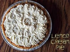 Lemon Cream Pie with Graham Crack Crust - Same r as the one we used at the resto sub keylime.  Loved it.