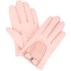 bow gloves ($68) ❤ liked on Polyvore featuring accessories, gloves, luvas, pink, women, lined gloves, pink gloves, leather bow gloves, french connection and cashmere-lined leather gloves