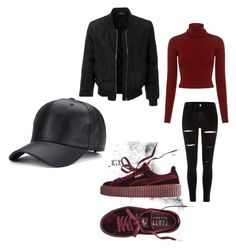Chilled vibe ✨♡ by banbangotit on Polyvore featuring polyvore, fashion, style, A.L.C., LE3NO, River Island, Puma and clothing