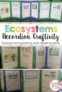 Ecosystem Accordion Craftivity complete with a reading booklet and all the materials needed to create your own craftivity that explores the various types of Ecosystems! Print and go! $