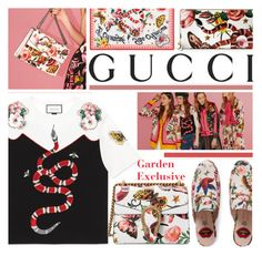 """Presenting the Gucci Garden Exclusive Collection: Contest Entry"" by bugatti-veyron ❤ liked on Polyvore featuring Gucci and gucci"