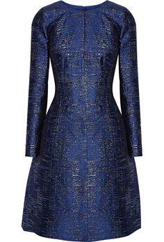 Oscar de la Renta Metallic Silk Jacquard Mother-of-the-Bride Dress. Metallic silk-blend jacquard dress, $2,490, Oscar de la Renta available at Net-a-Porter