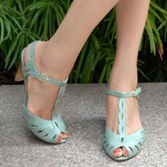 Mint sandals from Seychelles