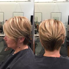 Short Layered Hairstyle For Over Ladies