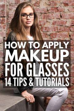 Make-up tips for glasses | Whether you are looking for a simple everyday look, ...  #everyday #glasses #looking #simple #whether