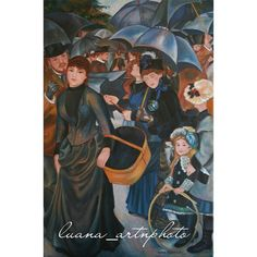 #copy #oil #oilpainting #colorful #arts_help #artwork #talentedpeopleinc #likeart #paintoftheday #picoftheday #hat #black #child #chiaroscuro #paintoftheday #igart #handmade #shadow #draw #artshare #drawings #drawingoftheday #loveart #impressionism  The #Umbrellas (1881)  #Renoir occupies an important place in the history of modern art for being the first to introduce underlying structure into the Impressionist mode of vision. In doing so he set the stage for the Post-Impressionist Paul…