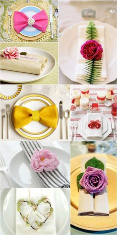 24 Beautiful Place Settings -Napkin Settings